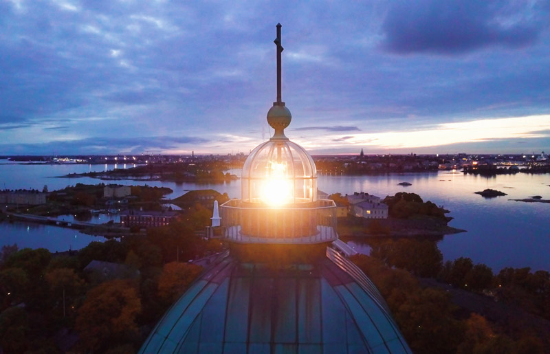 SUOMENLINNA SEA FORTRESS LIGHTHOUSE MODERNIZED TO LED TECHNOLOGY